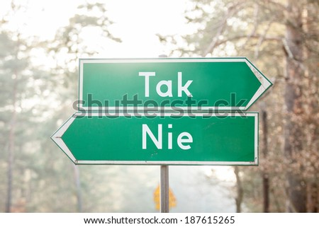 signpost on two sides - Yes or No