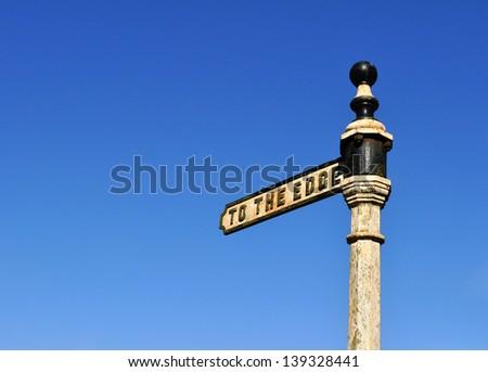 Signpost to the Edge, Alderley Edge - stock photo