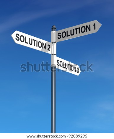signpost with business keywords and blue sky