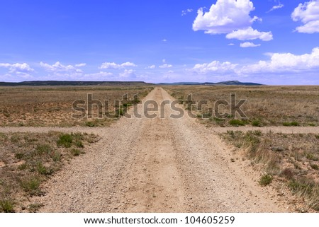 Signs and rough roads formerly SF Trail - stock photo
