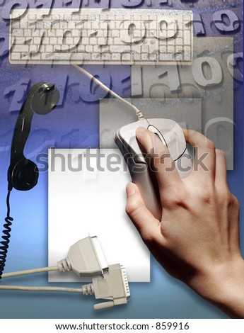 Signs and Symbols of Business and Technology - stock photo