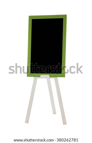 Signs blackboard isolated background.