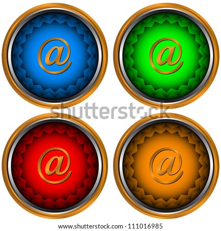 Signs e-mail located on a white background