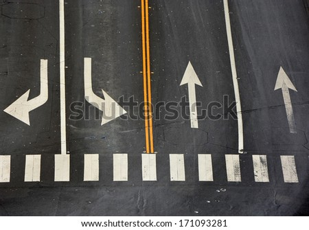 Signs on the road - stock photo