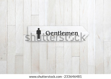 signs on wood wall - stock photo