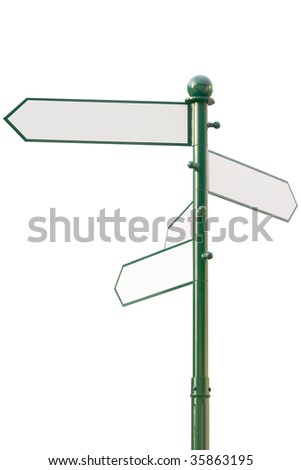 signs showing in four directions