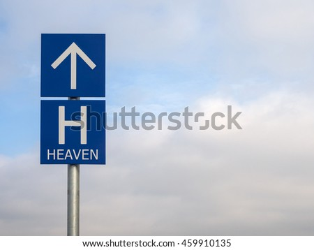 Signs to heaven Background of sky and clouds