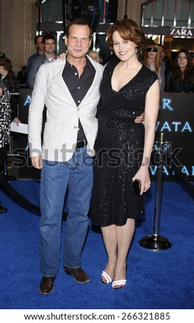 Sigourney Weaver and Bill Paxton at the Los Angeles premiere of 'Avatar' held at the Grauman's Chinese Theater in Hollywood on December 16, 2009.  - stock photo