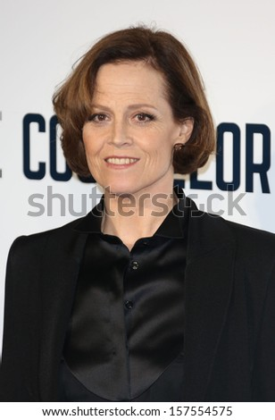 "Sigourney Weaver arriving for the ""The Counselor"" Special Screening at the Odeon West End, Leicester Square, London. 03/10/2013"