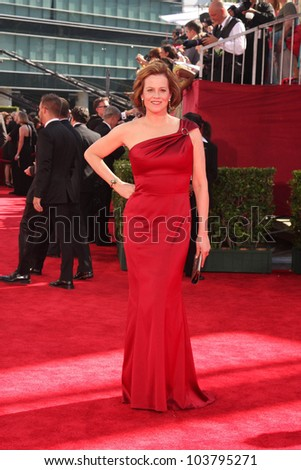 Sigourney Weaver at the 61st Annual Primetime Emmy Awards. Nokia Theatre, Los Angeles, CA. 09-20-09