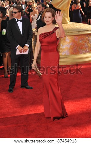 Sigourney Weaver at the 61st Primetime Emmy Awards at the Nokia Theatre L.A. Live. September 20, 2009  Los Angeles, CA Picture: Paul Smith / Featureflash