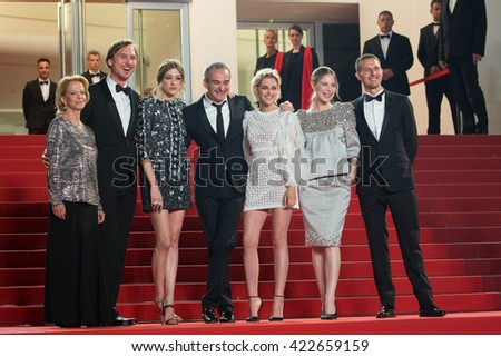 Sigrid Bouaziz, Olivier Assayas, Kristen Stewart, Nora von Waldstaetten , Anders Danielsen Lie,  'Personal Shopper' premiere at the 69th Festival de Cannes. May 17, 2016  Cannes, France - stock photo