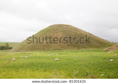 Silbury hill, Avebury, Wiltshire - stock photo
