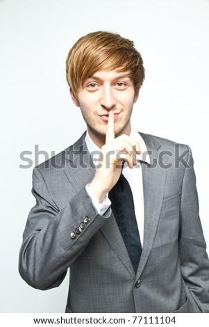 silence - stock photo