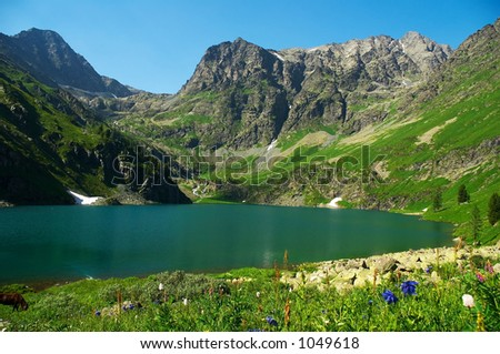 Silent lake, Altay Russia - stock photo