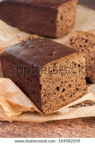 """Silesian bread gingerbread to festive traditional dishes so as """"Moczka"""" - Silesia region in the South Polish - stock photo"""