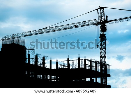 Silhouette Construction Site