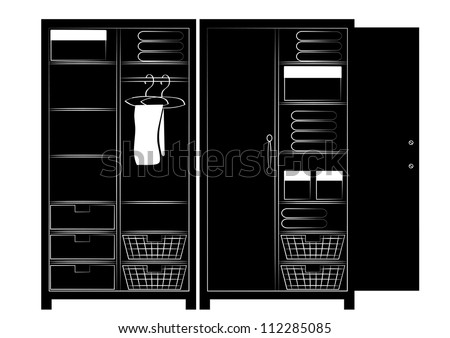 Open Closet Door Drawing closet door stock images, royalty-free images & vectors | shutterstock