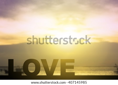 Silhouette for story of love  on the bridge in front of beautiful sunset and ocean and boat. love active life concept. motivation and inspiration in beautiful sunset and ocean - stock photo