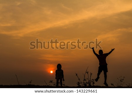 Mother Daughter Bike Twilight Time Stock Photo 304414211 ...