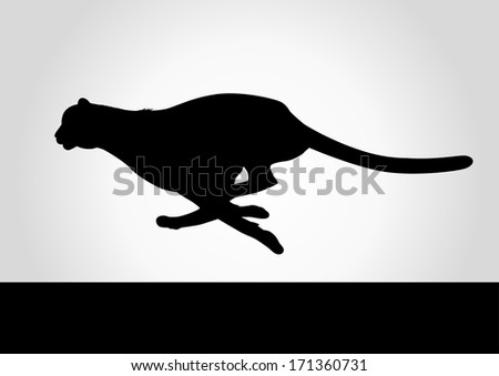 Silhouette illustration of a cheetah - stock photo