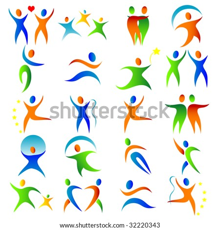 silhouette illustration of a vibrant people
