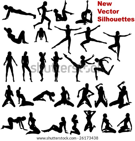 Silhouette, no vector version - stock photo