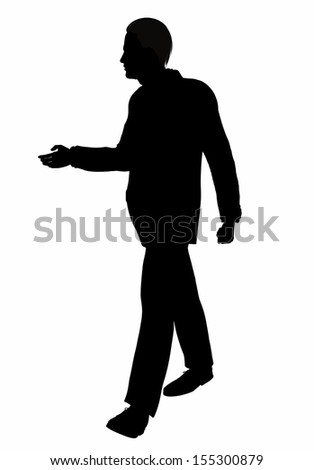 Silhouette of a Business Man