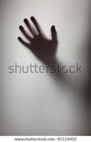 Silhouette of a hand - stock photo