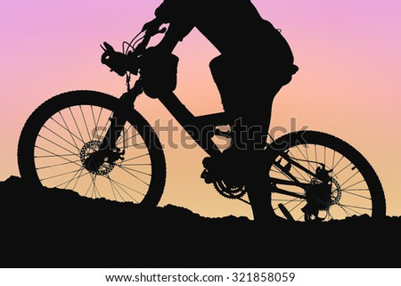 Silhouette of a mountain bike, Cycling to Health