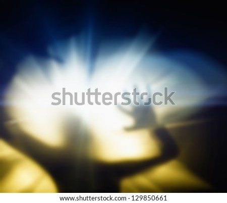 Silhouette of a screaming woman - stock photo