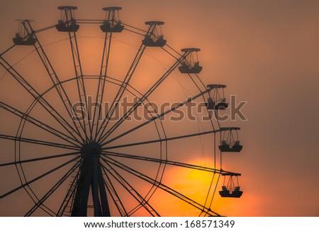 Vintage Photograph Ferris Wheel Carousel Horse Stock Photo ...