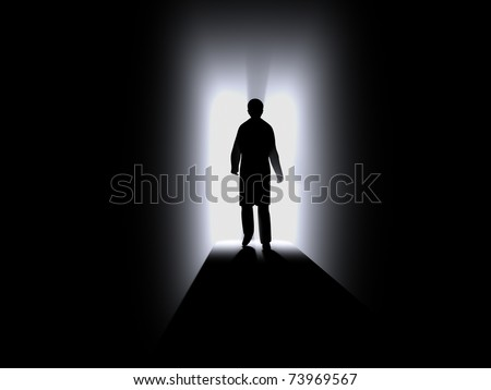 silhouette of human - stock photo