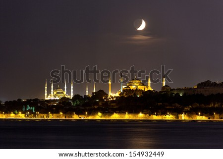 Silhouette of Istanbul - stock photo