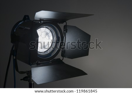 Silhouette of  movie lighting