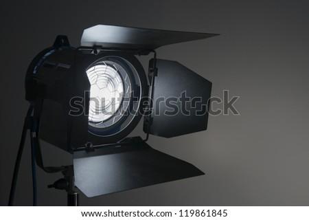 Silhouette of  movie lighting - stock photo
