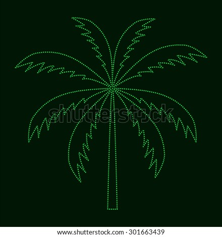 Silhouette of Palm Tree.  illustration.