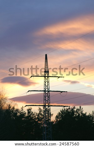 Silhouette of Power lines