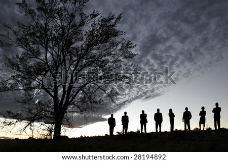 Silhouette of Success - stock photo