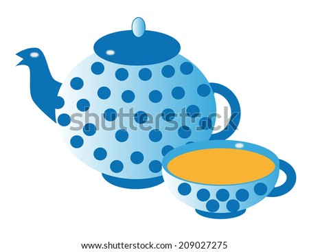 Silhouette of teapot  - stock photo