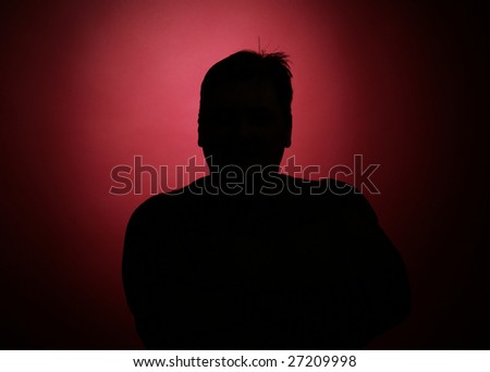 silhouette of the secret agent