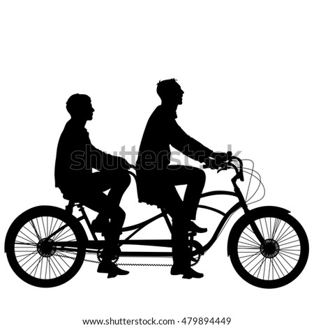 Tandem Bicycle Stock Images, Royalty-Free Images & Vectors ...
