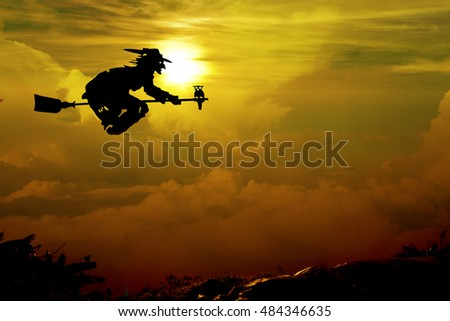silhouette of Young woman standing arms made a heart shape. Under the Rising Sun