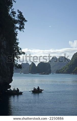 Silhouette on Halong
