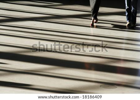 silhouette person - stock photo