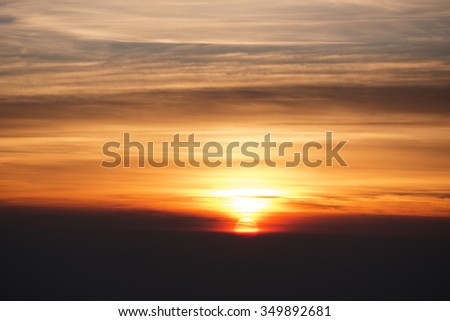 silhouette sunrise in Thailand inthanon mountain