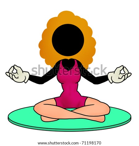 Silhouette-woman practicing yoga icon