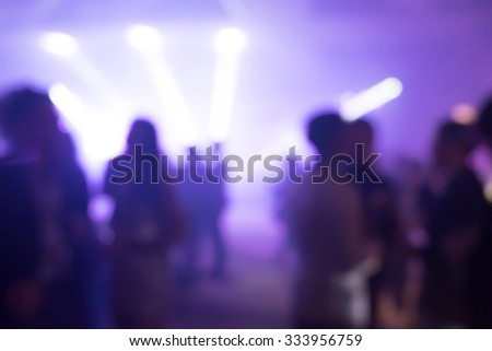 silhouettes of concert