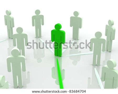 Silhouettes of people. 3d