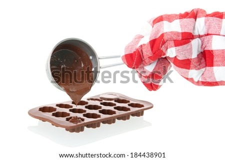 Silicon mold for making chocolate - stock photo